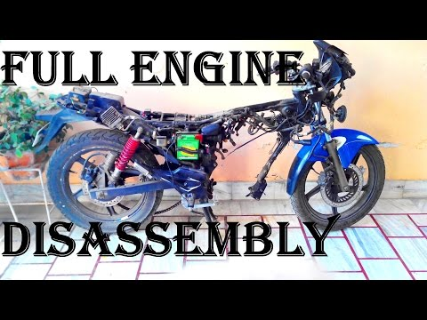 TIMELAPSE...Karizma ZMR Motorcycle FULL Engine Breakdown at Home and Repair Part 1 Disassembly