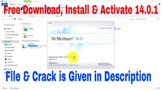 NI Multisim 14.0.1 2017  Download, Install, Activate Free 100% Working