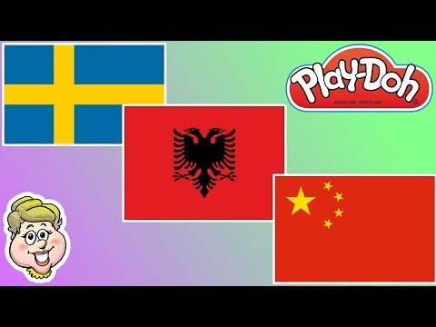 Play-Doh Flags! Sweden, Albania, and China! EWMJ #242