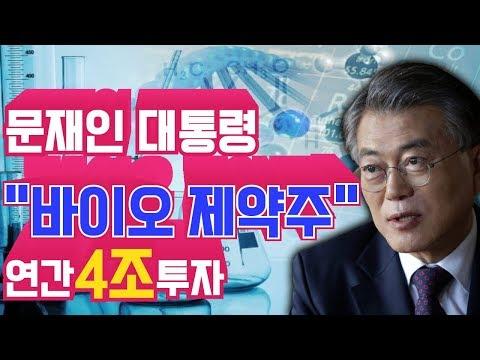 """문재인 대통령 """"바이오 제약주 """" 연간 4조투자"""