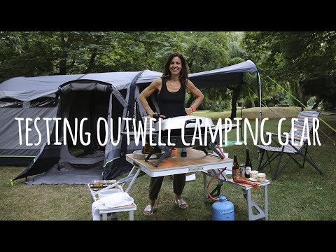 TOG And Julia Bradbury Testing Outwell Tent And Camping Gear