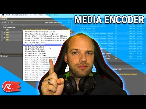 Encoder ses videos avec adobe media encoder - Tuto Francais