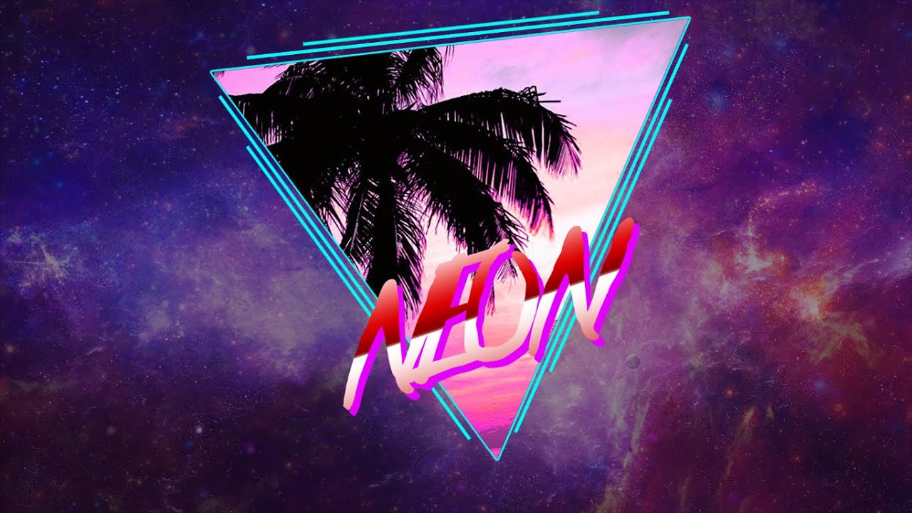 SpeedArt // WallPaper Neon 80's Style - YouTube