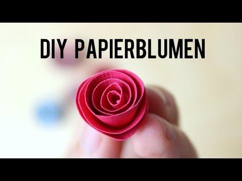 diy papierblumen ganz einfach selbst basteln anleitung youtube. Black Bedroom Furniture Sets. Home Design Ideas