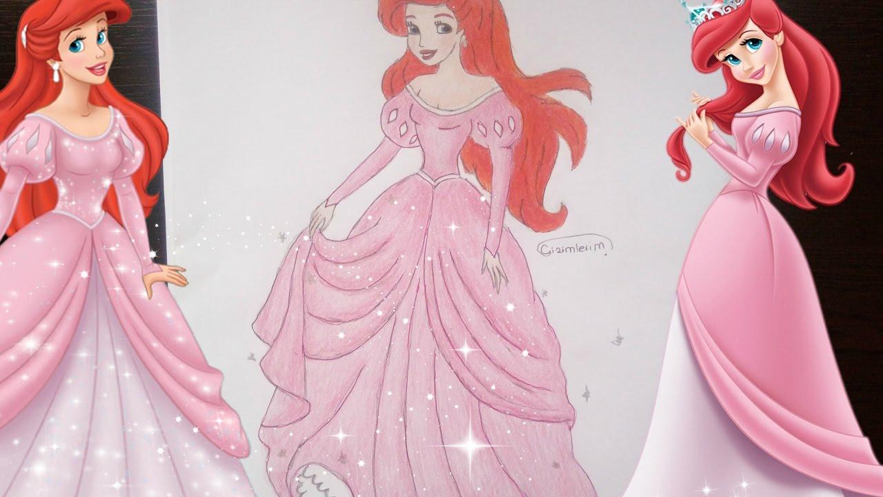 Kucuk Deniz Kizi Ariel Cizimi How To Draw The Little Mermaid