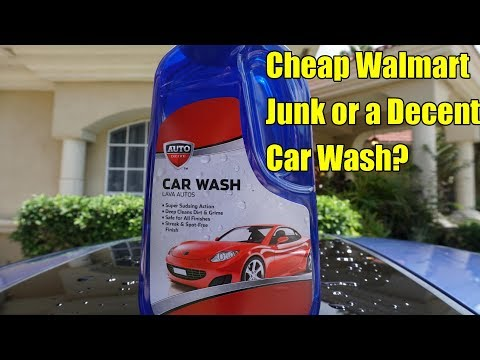 Auto Drive Car Wash Review. Is Walmart brand Car Soap Good?