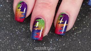 Holo Taco Rainbow Collection Gradient Nailart!