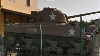 For sale Sherman Firefly Tank in a Rome scrap yard(For sale Sherman Firefly Tank in a Rome scrap yard, its ruff but it's still there today. Located at Google Maps: 41°58'26.8