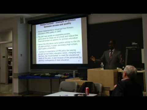 IEDP LECTURE SERIES: Moses Oketch
