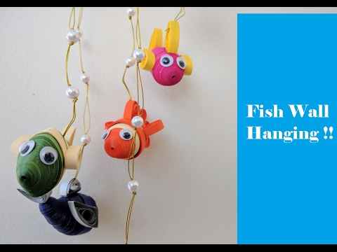 How To Make Paper Fish Wall Hanging !!   3D   DIY   Tutorial