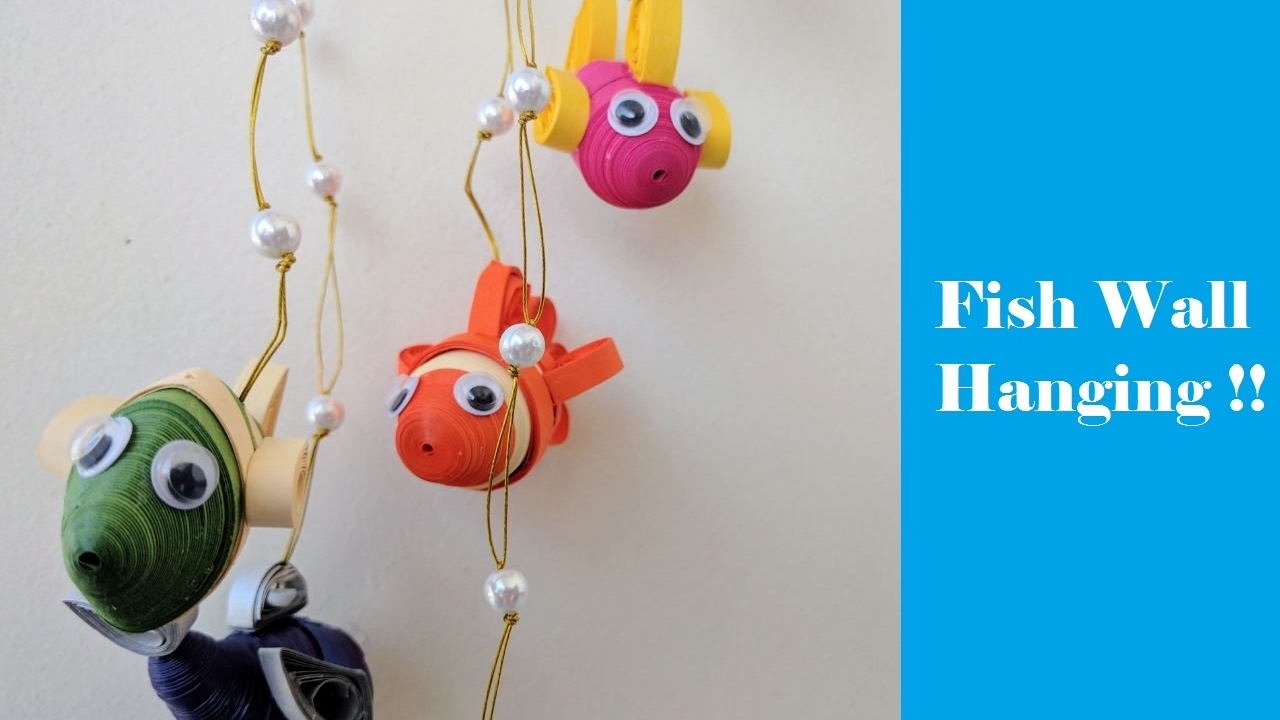 How To Make Paper Fish Wall Hanging 3d Diy
