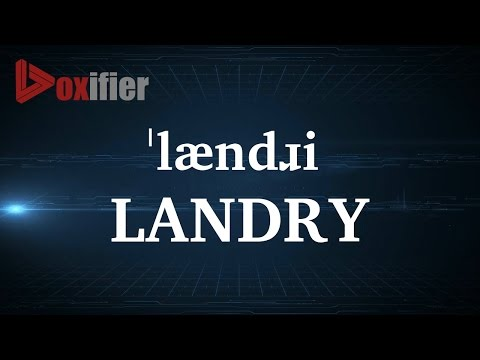 How to Pronunce Landry in English - Voxifier.com