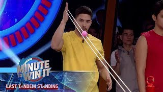 Drop Zone | Minute To Win It - Last Tandem Standing