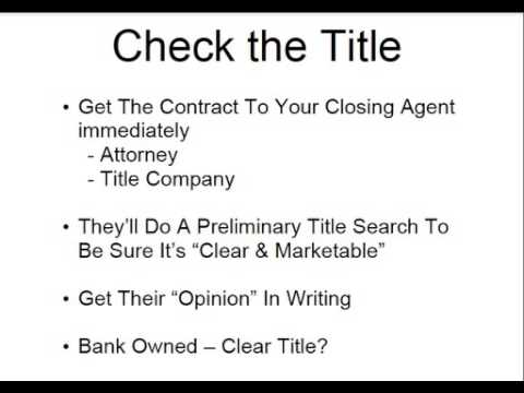 Property Title Check - What To Do After Offer Has Been Accepted