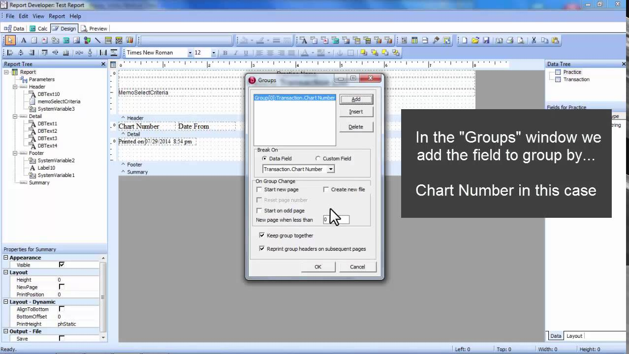 How To Group By A Field In Medisoft Report