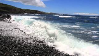 Chile - Waves on the Secret Beach Near Ahu Vinapu on the Easter Island