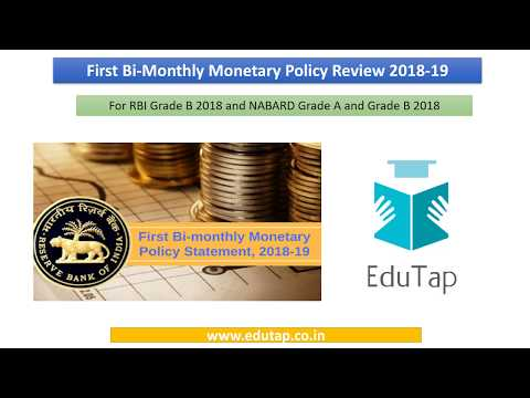 1st bi-monthly Monetary Policy Review explained for RBI and NABARD 2018