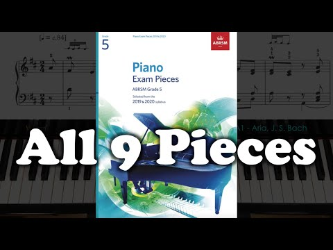 ABRSM Grade 5 (2019 & 2020): All 9 Pieces