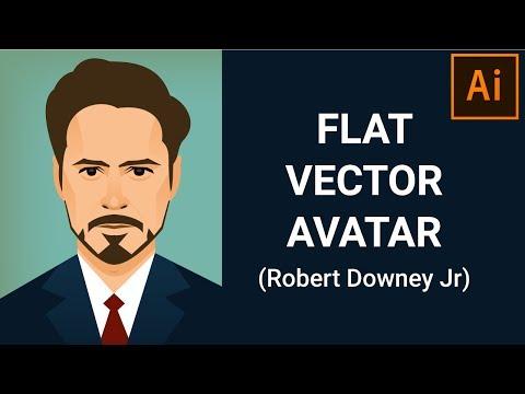 Flat Avatar/Portrait Design Tutorial | Illustrator Tutorial