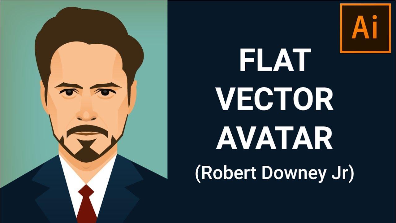flat avatar portrait design tutorial illustrator tutorial youtube