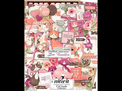 Cat-itude Collection Digital Kit Release   Nitwit Collections