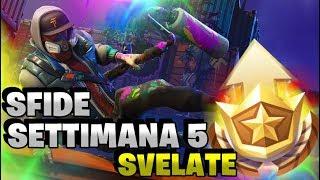 SFIDE SETTIMANA 5 SVELATE! 🌟 Fortnite Battle Royale ⛏️ Pazzox