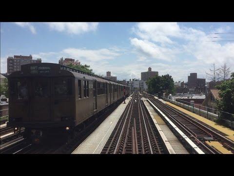 New York City Subway HD 60fps: R1/9 Round Trip RFW Brighton Beach - Kings Highway 6/28/15