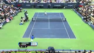 "Djokovic demonstrates his ""vamos-tamos"" play vs. Nadal (US Open 2011)"