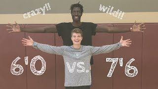 BEATING 7'6 NBA PLAYER IN DUNK CONTEST Video