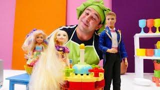 Yemek yapma oyunları. Rapunzel'e doğum günü pastası yapıyoruz!