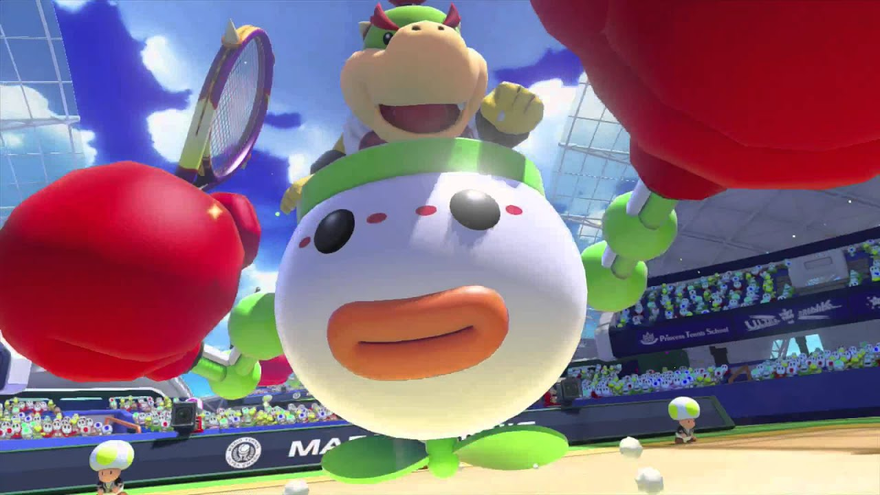 Mario Tennis Ultra Smash Bowser Amp Bowser Jr Vs Yoshi