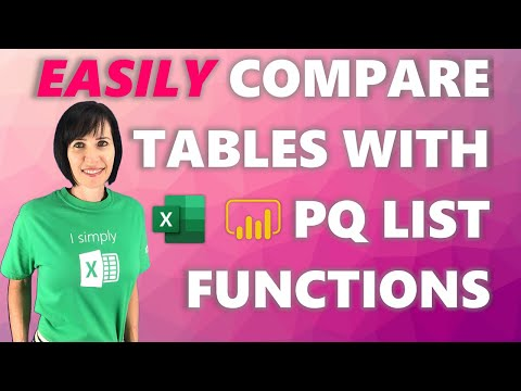 Easily Compare Multiple Tables in Power Query