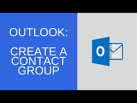 Outlook - Create Contact Groups
