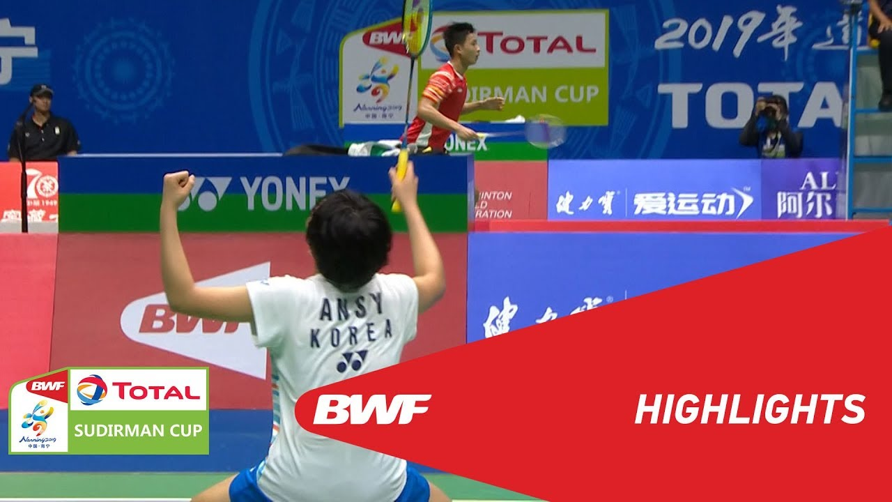 TOTAL BWF SUDIRMAN CUP 2019 | WS | CHINESE TAIPEI VS KOREA | BWF 2019