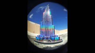Cubic Fun Burj Khalifa 1 meter version + LED