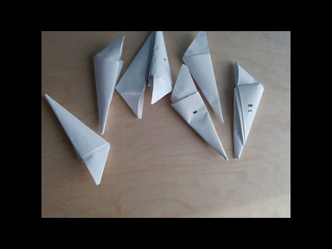 How to make a paper claw/fidget spinner comparison