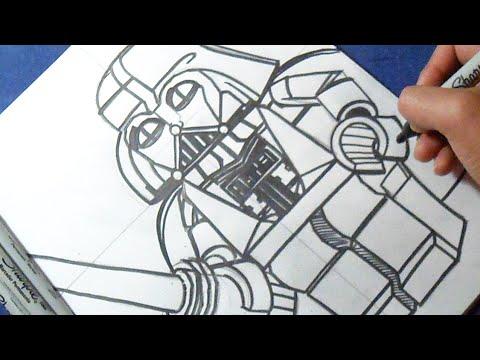 como desenhar darth vader lego star wars youtube