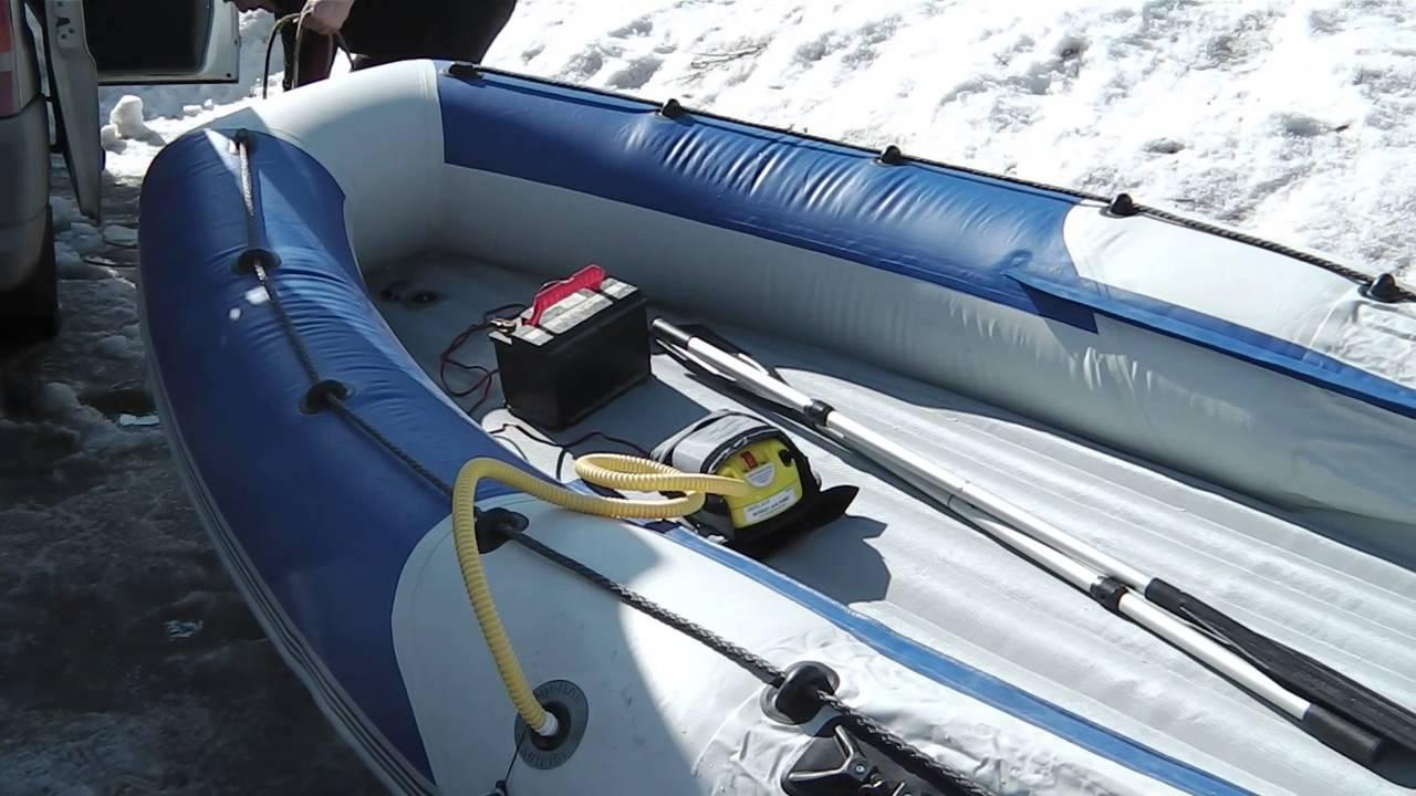 сколько накачивают лодку пвх