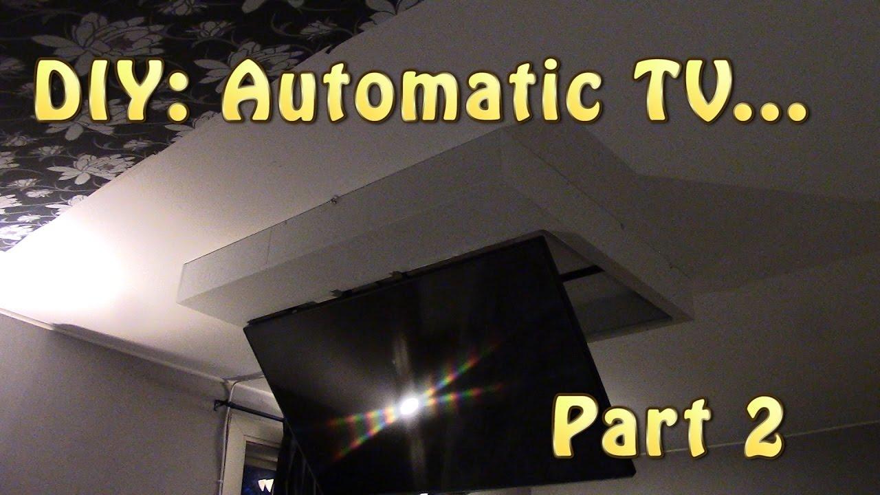 DIY: TV Mount ceiling Part 2 - YouTube