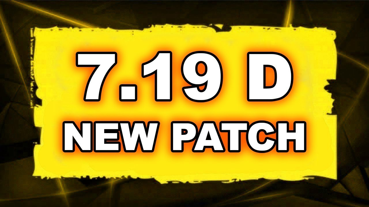 Dota 2 NEW 7.19D PATCH - Main Changes! Videosu