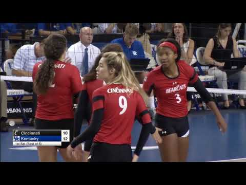 #14 Kentucky vs Cincinnati Set 1 - Women's College Volleyball - 8/26/17