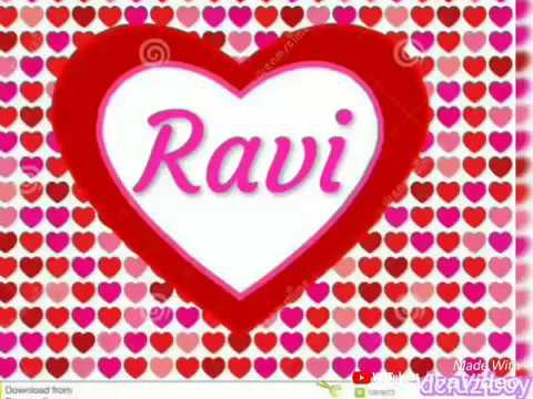 New Ravi name WhatsApp status ❤ ❤ Mera pyaar tera pyaar ❤❤❤
