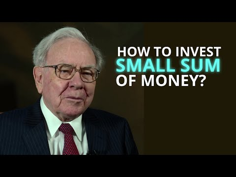 How would Warren Buffett invest a SMALL SUM of money?