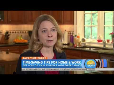 Laura Vanderkam shares tIme saving tips on The Today Show - May 2016