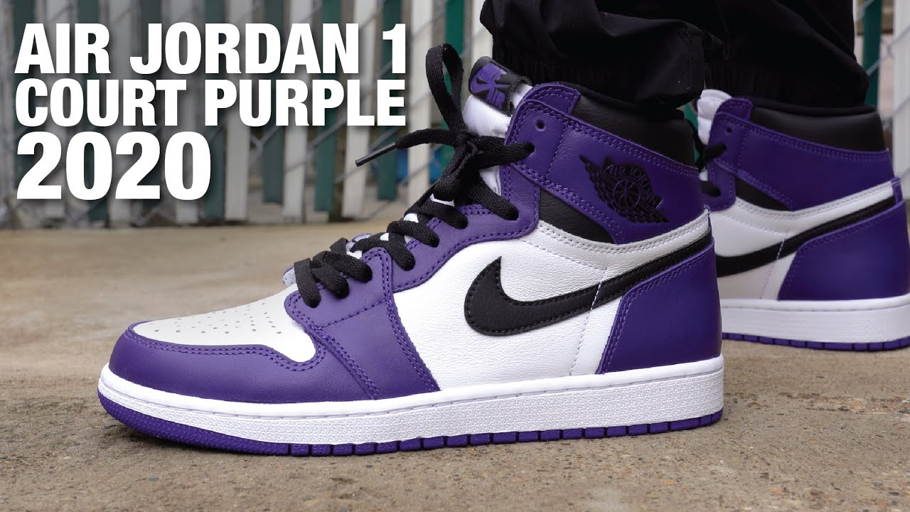 Erradicar Abuelo País de origen  Air Jordan 1 Court Purple 2020 Review & On Feet - YouTube