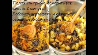 Рецепты первых блюд:Суп с сушеными грибами и капустой