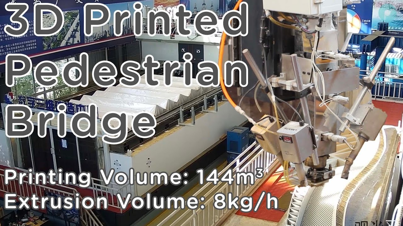 World's Largest Plastic 3D Printer - 3D Printed Pedestrian Bridge