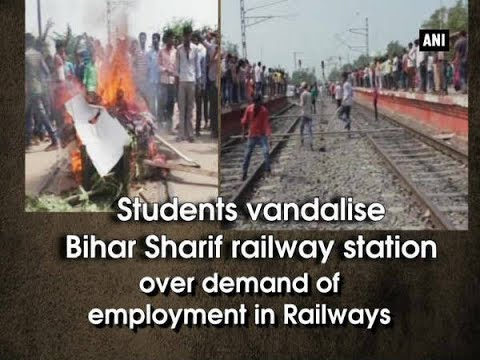 Students vandalise Bihar Sharif railway station over demand of employment  in Railways - Bihar News