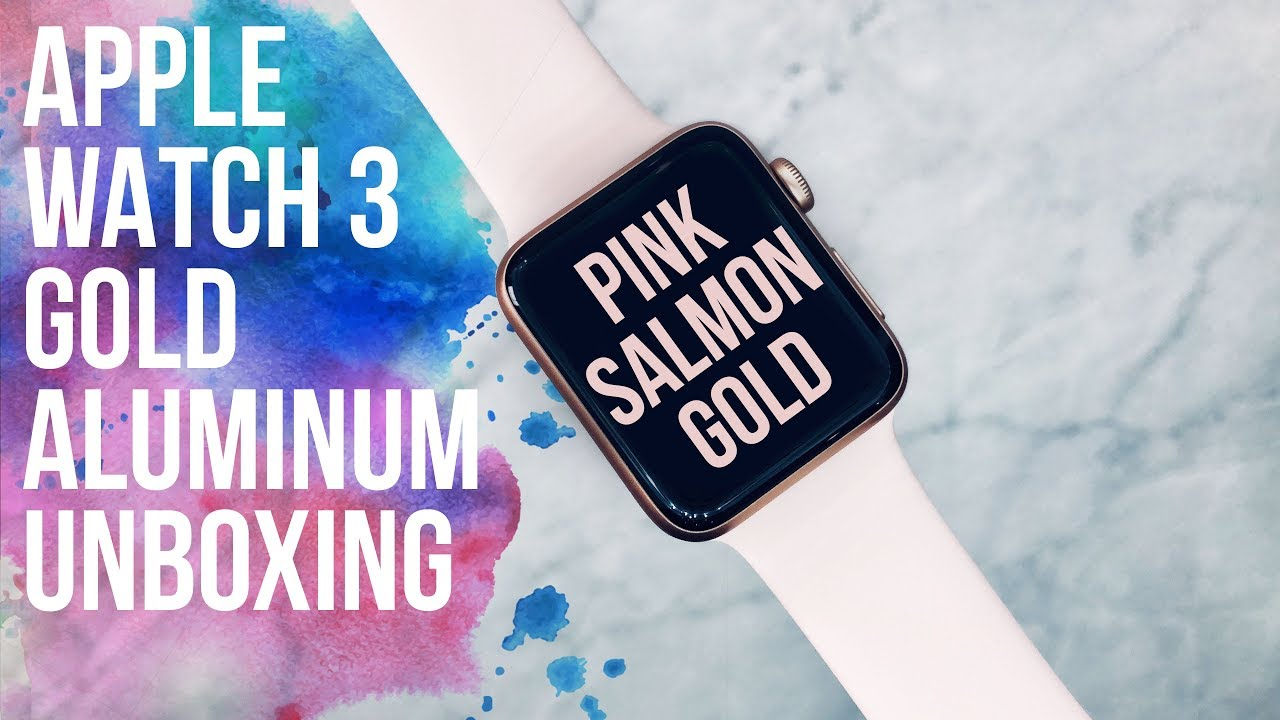 Apple Watch Series 3 Rose Gold Aluminum Unboxing In 4k Youtube