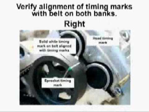 3 5l V6 Isuzu Vehicross Timing Belt Replacement Youtube